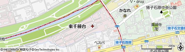 愛知県名古屋市千種区東千種台周辺の地図