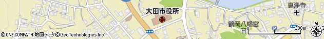 島根県大田市周辺の地図