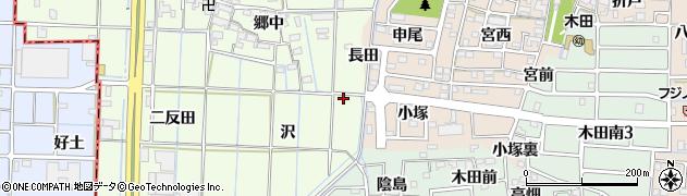 愛知県あま市北苅沢周辺の地図