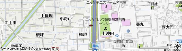 愛知県あま市甚目寺(権現)周辺の地図