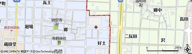 愛知県津島市寺野町(好土)周辺の地図