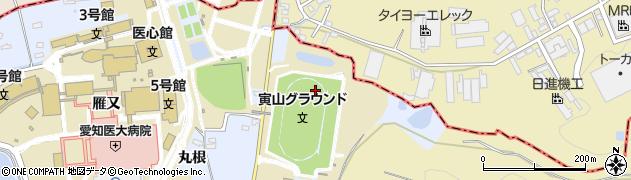 愛知県長久手市岩作(寅山)周辺の地図