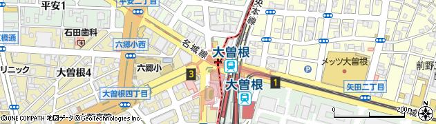 愛知県名古屋市北区周辺の地図