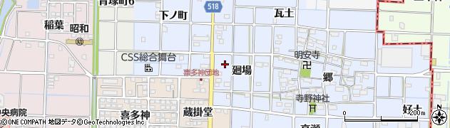愛知県津島市寺野町(廻場)周辺の地図