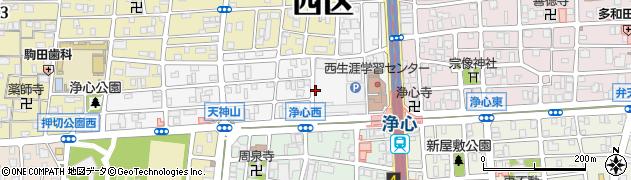 愛知県名古屋市西区浄心周辺の地図
