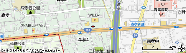 フィリピンパブスターハウス周辺の地図
