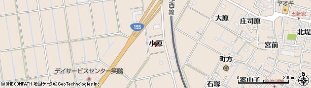 愛知県愛西市町方町(小原)周辺の地図