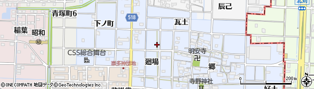 愛知県津島市寺野町周辺の地図