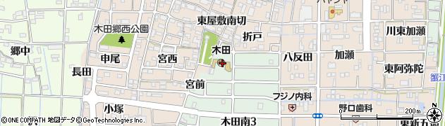愛知県あま市木田(宮東)周辺の地図
