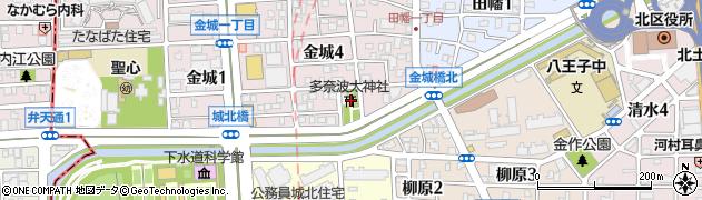多奈波太神社周辺の地図