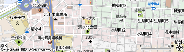 愛知県名古屋市北区清水町周辺の地図