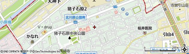 愛知県名古屋市名東区猪子石原周辺の地図