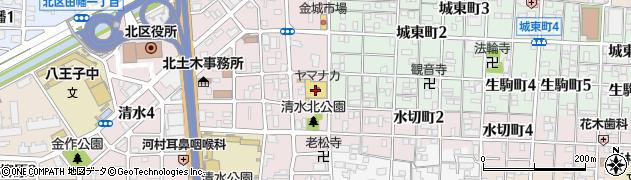 岩田食品清水店周辺の地図