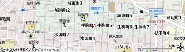 愛知県名古屋市北区生駒町周辺の地図