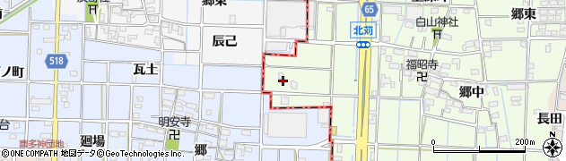 愛知県あま市北苅三本柿周辺の地図
