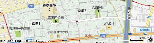 愛知県名古屋市守山区森孝周辺の地図
