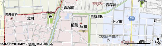 愛知県津島市葉苅町(稲葉)周辺の地図