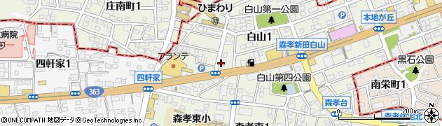 ドミノ・ピザ 藤が丘四軒家店周辺の地図