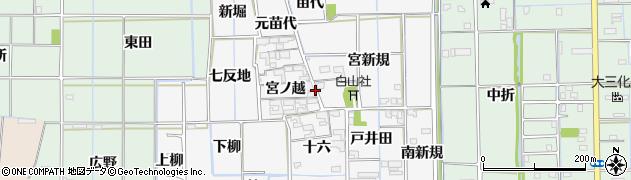 愛知県あま市木折(宮之前)周辺の地図