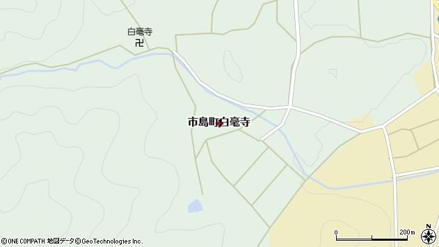 〒669-4334 兵庫県丹波市市島町白毫寺の地図