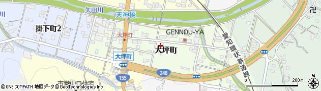 愛知県瀬戸市大坪町周辺の地図
