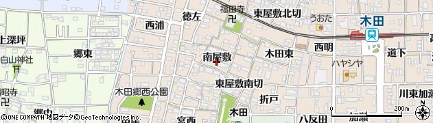 愛知県あま市木田(南屋敷)周辺の地図