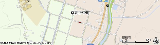 京都府京都市右京区京北下中町(新桜)周辺の地図
