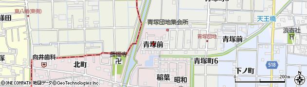 愛知県津島市葉苅町(青塚前)周辺の地図