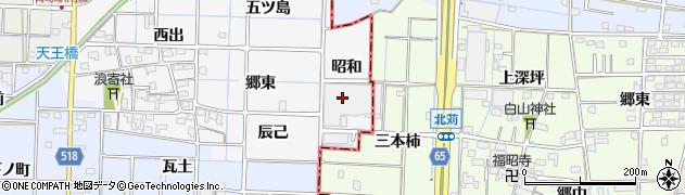 愛知県津島市牧野町(昭和)周辺の地図