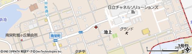 愛知県尾張旭市晴丘町(池上)周辺の地図
