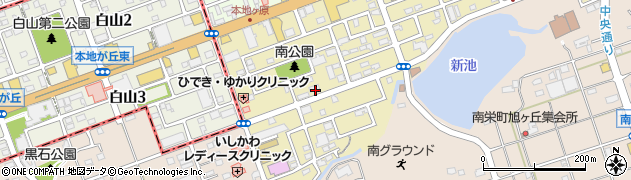 愛知県尾張旭市南本地ケ原町周辺の地図