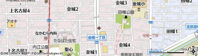 愛知県名古屋市北区金城周辺の地図