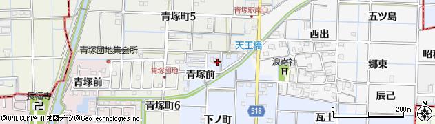 愛知県津島市寺野町(青塚前)周辺の地図
