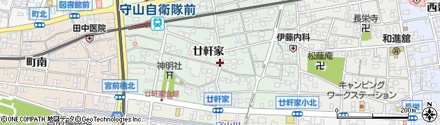愛知県名古屋市守山区廿軒家周辺の地図