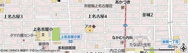 愛知県名古屋市西区上名古屋4丁目周辺の地図