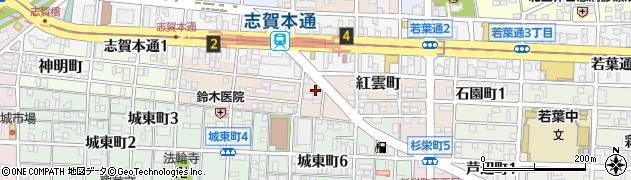 ほっともっと 紅雲町店周辺の地図
