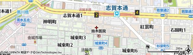 愛知県名古屋市北区大蔵町周辺の地図