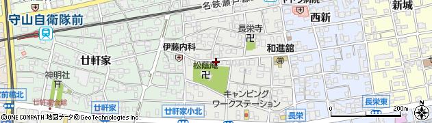 愛知県名古屋市守山区長栄周辺の地図