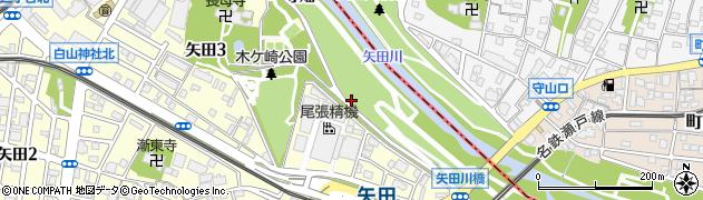 愛知県名古屋市東区矢田町周辺の地図