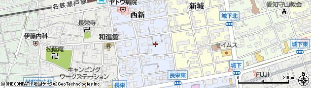 愛知県名古屋市守山区西新周辺の地図