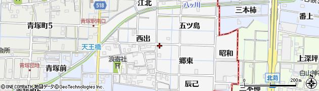 愛知県津島市牧野町(郷東)周辺の地図