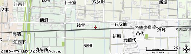 愛知県あま市金岩(後堂)周辺の地図