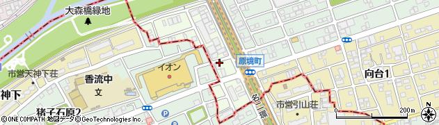 愛知県名古屋市守山区原境町周辺の地図