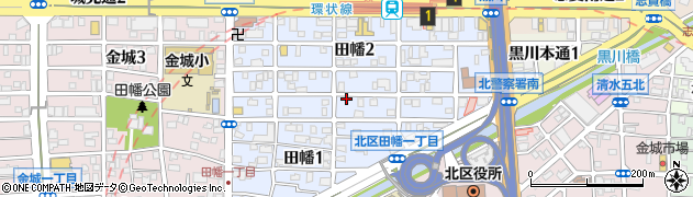 愛知県名古屋市北区田幡周辺の地図