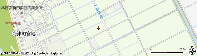 岐阜県海津市海津町本阿弥新田周辺の地図