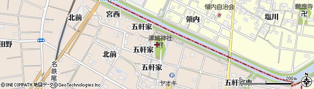 西生寺周辺の地図