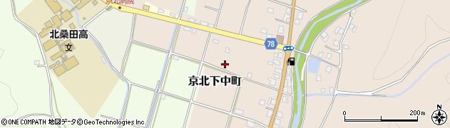 京都府京都市右京区京北下中町(新七町田)周辺の地図