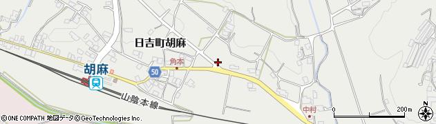 京都府南丹市日吉町胡麻(上戸松)周辺の地図