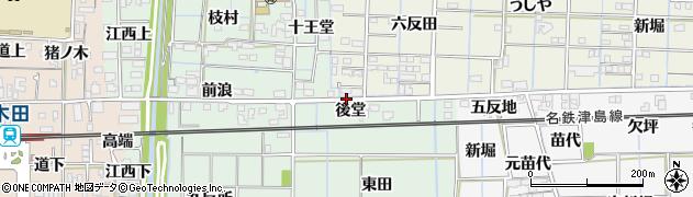 愛知県あま市花長(大門先)周辺の地図