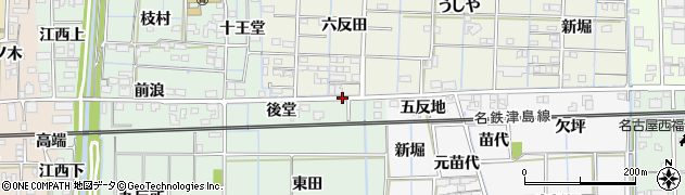 愛知県あま市花長(葉さは)周辺の地図
